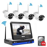 Beli Wistino 960P Cctv System Kit Wireless 4Ch Nvr Security Ip Camera Wifi Outdoor P2P Monitor Kits Ir Lcd Screen Surveillance Camera Intl Secara Angsuran