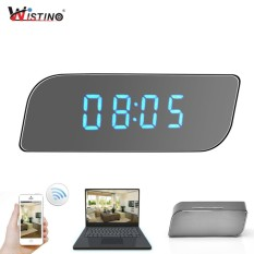Wistino Cctv 1080P Wifi Mini Clock Camera Time Wireless Nanny Clock P2P Security Night Vision Motion Detection Home Security Ip Camera Intl Terbaru