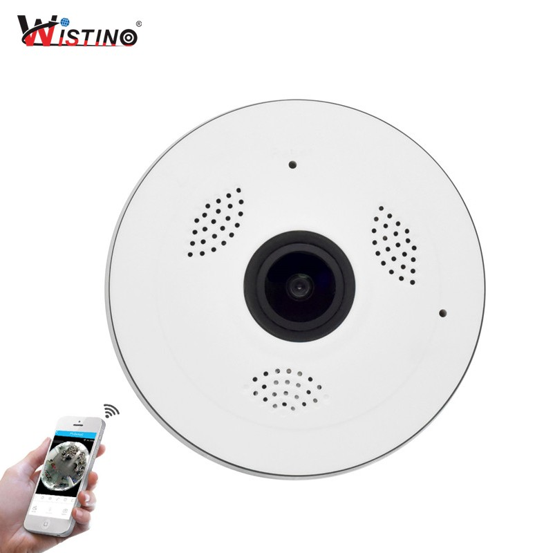 Spek Wistino Cctv Hd 960P Wifi Ip Camera Alarm Wireless Vr Panoramic Camera Fisheye 360 Degree Video Baby Monitor Home Surveillance Intl Wistino