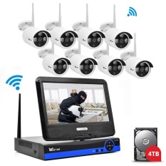 Jual Wistino Cctv System Kit Wireless 8Ch Nvr Security 720P Ip Camera Wifi Outdoor P2P Monitor Kits Ir Lcd Screen Surveillance Camera Intl Indonesia