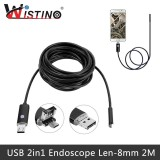 Wistino Mini 2In1 Mirco Usb Endoscope Camera 2M Android Pc 8Mm Len Ip67 Inspection Surveillance Intl Wistino Diskon 40
