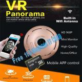 Harga Gratis Kartu 16G Tf Kamera Pintar Hd 960P 3D Vr Ip Kamera Wifi 360 Derajat Lensa Fisheye Penglihatan Malam Monitor Panorama Kamera Cctv Nirkabel P2P App View Intl Asli