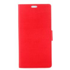 dengan Penutup Magnetik PU Leather Case Flip Stand Cover untuk HTC Desire 628 (Merah) (Intl) -Intl