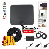 Harga Womdee Hdtv014 Version Tv Antenna Indoor Digital Hdtv Antenna Amplified 4K Hd Vhf Uhf Freeview For Life Local Channels Broadcast For All Types Of Home Smart Television Intl Branded