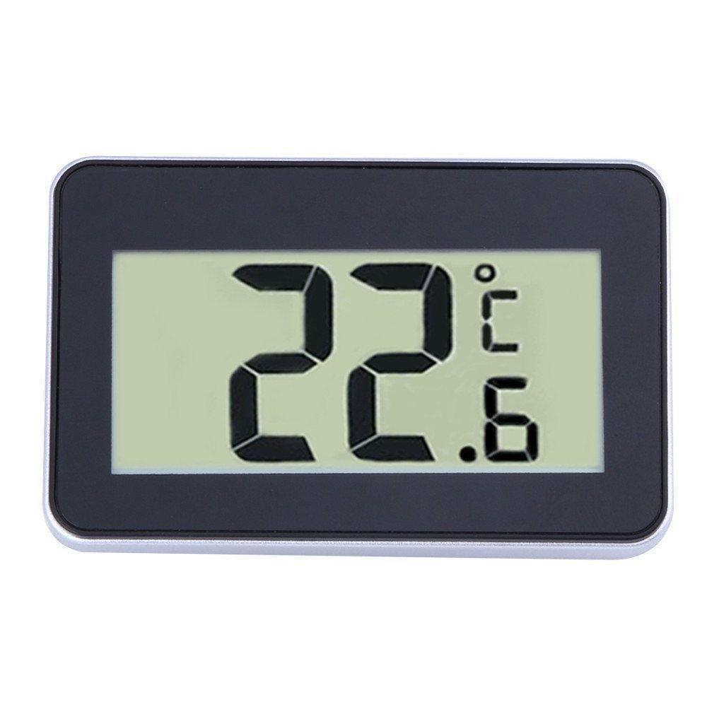 Womdee KOBWA Ipx3 Waterproof Digital Layar LCD Besar Kulkas Freezer Room Thermometer Mudah Dibaca dengan Magnetic Back Hanging Hook -Intl