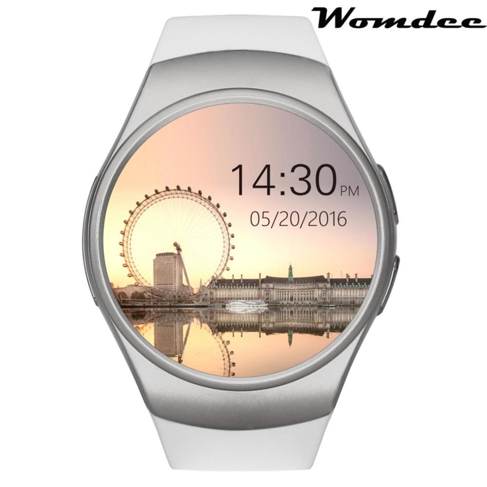 Womdee KW18 Semua-Dalam-1 Bluetooth Pintar Jam Tangan Ponsel, SIM Pergelangan Tangan Jam Tangan Pintar untuk Ponsel Pintar Ios/Android, Mendukung SIM TF Kartu Monitor Denyut Jantung-Internasional