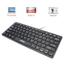 Womdee Usb Laptop Keyboard Super Tipis MINI Keyboard Coklat Keyboard. MINI 1 Berkabel Keyboard, Antarmuka USB, Ultra Tipis, Pasang dan Mainkan, Dukung Tahan Air, cocok untuk Buku Catatan, Digunakan Di Kantor. -Internasional