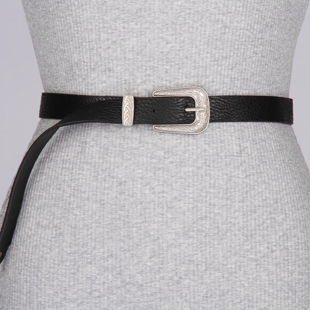 Beli Women Belt Fashion Vintage Single Metal Buckle Belt Waistband Adjustable Waist Pu Belt Intl