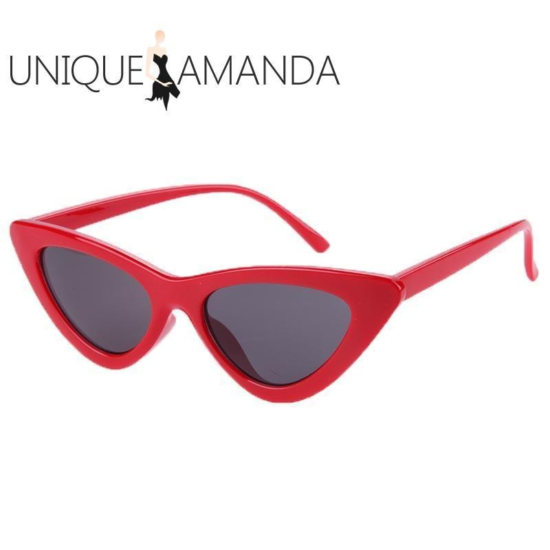 Kacamata Wanita Women Fashion Shades Vintage Chic Cat Eye Triangle Sunglasses - Intl By Unique Amanda.