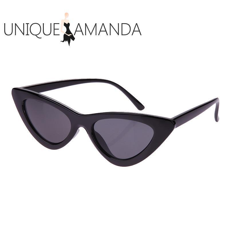 Women Fashion Shades Vintage Chic Cat Eye Triangle Sunglasses - intl
