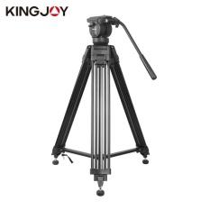 Wond KINGJOY Heavy Duty DV Video kamera SLR Tripod Pro dengan cairan Pan kepala VT-2500 hitam