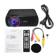 WOND LED Digital Projector U80 1080P HD Media Player Home Theater Projector black EU Plug used in Android 4.4 - intl