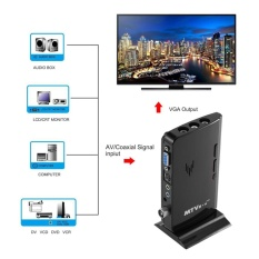 Wond MTV Box HD LCD CRT TV BOX AV to VGA TV Receiver Tuner with Remote Control US Plug - intl
