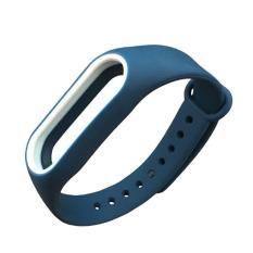 Spesifikasi Wond Penggantian Wrist Strap Dengan Dua Warna Tpu Gelang Untuk Xiaomi Mi Band 2 Putih Biru Lengkap Dengan Harga