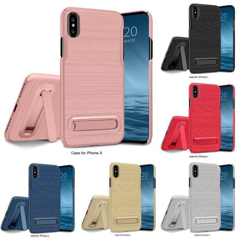 Indah Power 2017new Baru Penjualan Terlaris dan Fashion iPhone X Casing Ponsel untuk Samsung Galaxy S8/S8 Plus NOTE8 Telepon Seluler Sarung Ponsel Case iphone 6 S 6 Plus 7 Plus 8 8 Plus Sarung Ponsel Stand (8 Warna) -Emas-Iphone 8 PLUS/iPhone 7 Plus-Intl