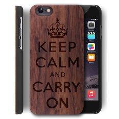 Kayu Case untuk Apple IPhone 6/iPhone 6 S [4.7 Inch]-[Walnut] & PC Back Cover-Kualitas Premium Kasus Kayu Alami untuk Smartphone-oleh YUANQIAN (Walnut Tetap Tenang) -Intl