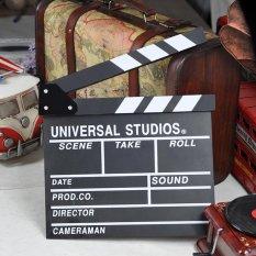 Kayu Direktur Adegan Clapperboard TV Clapper Film Papan Film Cut Prop-Intl
