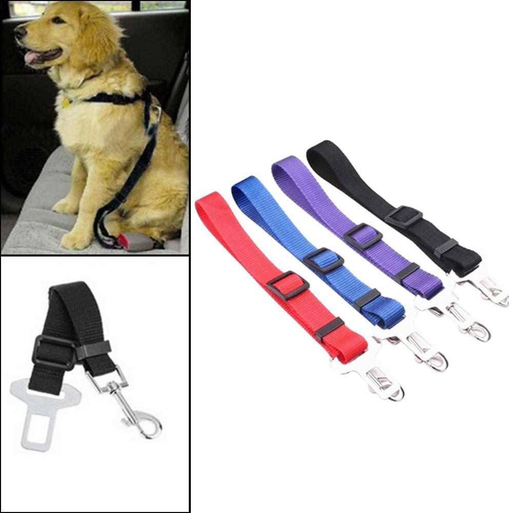 woowof Dog Seat Belt , Nylon Pet Safety Belt 70cm Long, Adjustable Dog Seatbelt Vehicle Seatbelt Leash Lead Travel For Small/Medium/Large Dogs -4 Pack Seat Belt Dogs - intl