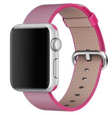 Promo Toko Kain Tenun Strap Nylon Watch Band Untuk Apple Watch 42Mm Di Pink