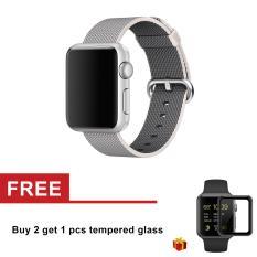 Harga Kain Tenun Strap Nylon Watch Band To Apple Watch Series 3 Seri 1 Seri 2 42Mm Dan Spesifikasinya