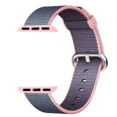 Review Woven Nylon Wrist Strap Penggantian Dengan Klasik Buckle Untuk Apple Watch Band Seri 1 Seri 2 42Mm Intl