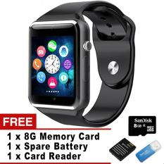 Beli Wrist Watch Bluetooth Smart Watch Sport Pedometer Dengan Sim Kamera Smartwatch Untuk Android Smartphone Full Black Intl Kredit