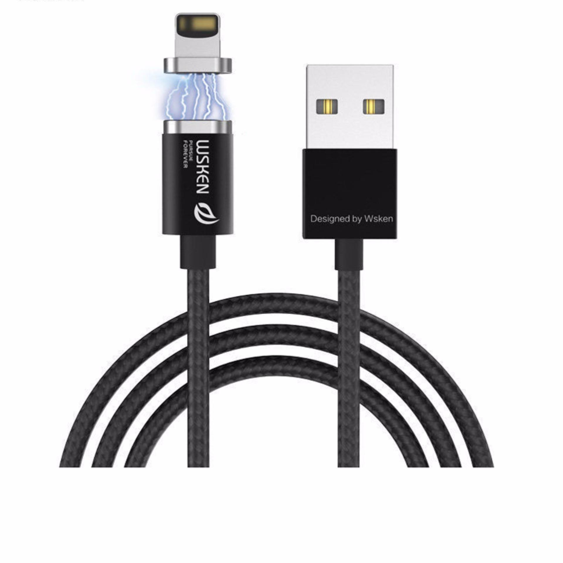 Beli Wsken X Cable Mini 2 Micro Usb And Lightning Magnetic Charging Cable Blackt Wsken Asli