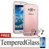 Cuci Gudang X Case Mirror Aluminium Bumper For Samsung Z2 Free Tempered Glass Rose Gold