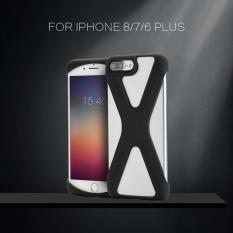 X Bentuk Telepon Case Lembut Silikon Sarung Anti Guncangan Berongga Keluar untuk iPhone 8/7/6 Plus Hitam- internasional