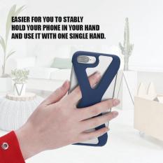 X Bentuk Telepon Case Lembut Silikon Sarung Anti Guncangan Berongga Keluar untuk iPhone 8/7/6 Plus Biru- internasional