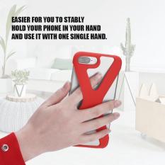 X Bentuk Telepon Case Lembut Silikon Sarung Anti Guncangan Berongga Keluar untuk iPhone 8/7/6 Plus Merah- internasional