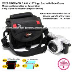 X12T PROCYON S AW X12T logo Red with Rain Cover Mirrorless Camera Bag for Canon Nikon Sony Fujifilm Panasonic Olympus Samsung