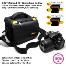 X12T Zamrud 101 Nikon logo Yellow for DSLR + Mirrorless Camera Bag for Canon Nikon Sony Fujifilm Panasonic Olympus Samsung