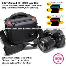 X12T Zamrud 101 X12T logo Red for DSLR + Mirrorless Camera Bag for Canon Nikon Sony Fujifilm Panasonic Olympus Samsung