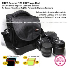 Rp 135.000. X12T Zamrud 120 X12T logo Red for DSLR Camera Bag Fit 1 DSLR and 2 Lenses for Canon Nikon Sony Fujifilm Panasonic Olympus ...