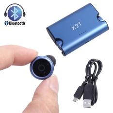 Harga X2T Mini Nirkabel Bluetooth Headset Binaural Gerakan 4 2 Biru Intl Paling Murah