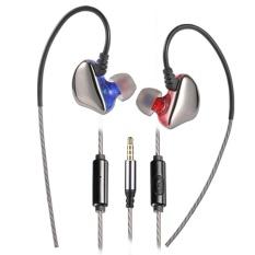 Promo X6 Harum Wired In Ear Stereo Smart Ponsel Earphone Dengan Mikrofon Kawat Control Merah Intl Tiongkok