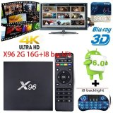 Toko X96 2G 16G I8 Keyboard Nirkabel Pemutar Media Streaming Amlogic S905X Quad Core Android 6 Smart Ott Tv Box Hdmi 2 Usb Mendukung 3D 4 K Wifi Intl Terlengkap Tiongkok