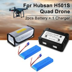 Diskon Produk Xcsource 2Pcs 7 4V 2700Mah 10C 20Wh Lipo Battery Usb Charger For Hubsan H501S Quad Rc473