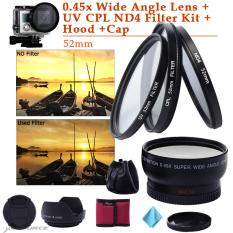 Beli Xcsource 52Mm 45 X Sudut Lebar Lensa Kit Untuk Menyaring Nikon D5200 D3000 D7100 D7000 Lf412 Terbaru