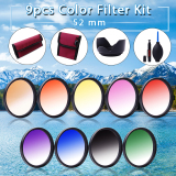 Xcsource 52Mm 9 Pcs Lulus Warna Filter Kit Untuk Nikon D5200 D7100 D7000 18 55Mm Lf496 Di Indonesia