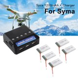 Diskon Xcsource 5Pcs 3 7V 1200Mah 25C Lipo Battery 5In1 Usb Battery Charger For Syma X5S Xcsource Di Dki Jakarta