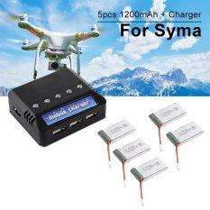 Harga Xcsource 5Pcs 3 7V 1200Mah 25C Lipo Battery 5In1 Usb Battery Charger For Syma X5S Baru Murah