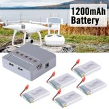 Xcsource 5Pcs 3 7V 1200Mah Lipo Battery Charger For Syma X5Hw X5Hc Drone Quadcopter Rc474 Xcsource Diskon