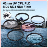 Diskon Xcsource 62Mm Uv Cpl Fld Nd2 Nd4 Nd8 Filter Untuk Canon 350D 400D 450D 500D 550D 600D Lf421 Intl Xcsource