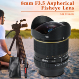 Model Xcsource 8Mm F3 5 Aspherical Lensa Fisheye For Nikon D300S D5300 D7000 D7100 Lf550 Terbaru