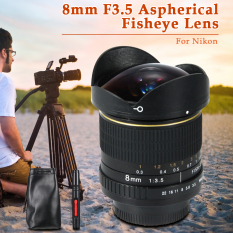 XCSource 8mm F3.5 Aspherical Lensa Fisheye For Nikon D300S D5300 D7000 D7100 Lf550