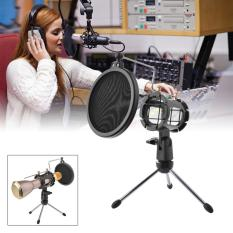 XCSOURCE Adjustable Desktop Mini Tripod Support w/ Windscreen Filter for Microphone