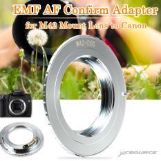 XCSource EMF AF Adaptor untuk Mengkonfirmasi M42 Lensa untuk Canon EOS 5D III 70D 100D 650D 700D