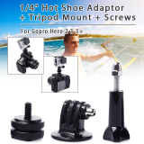 Toko Xcsource Os072 Swivel Hot Shoe Adapter Tripod For Gopro Hero 1 2 3 3 Indonesia